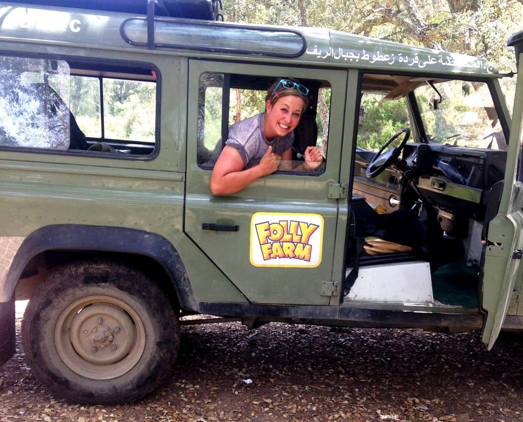 Rosie in the monkey bus